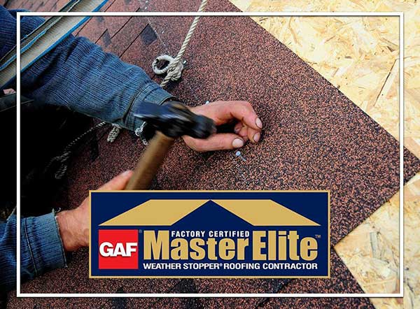 master elite certified roofing services